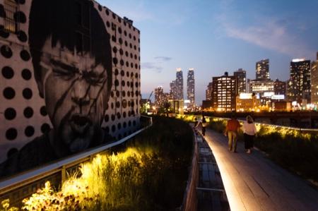 High Line evening
