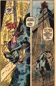 """Due elementi della tavola originale in cui Gwen muore. Qualcosa di simile è stato recentemente proposto al cinema nel film """"The Amazing Spider-Man 2"""